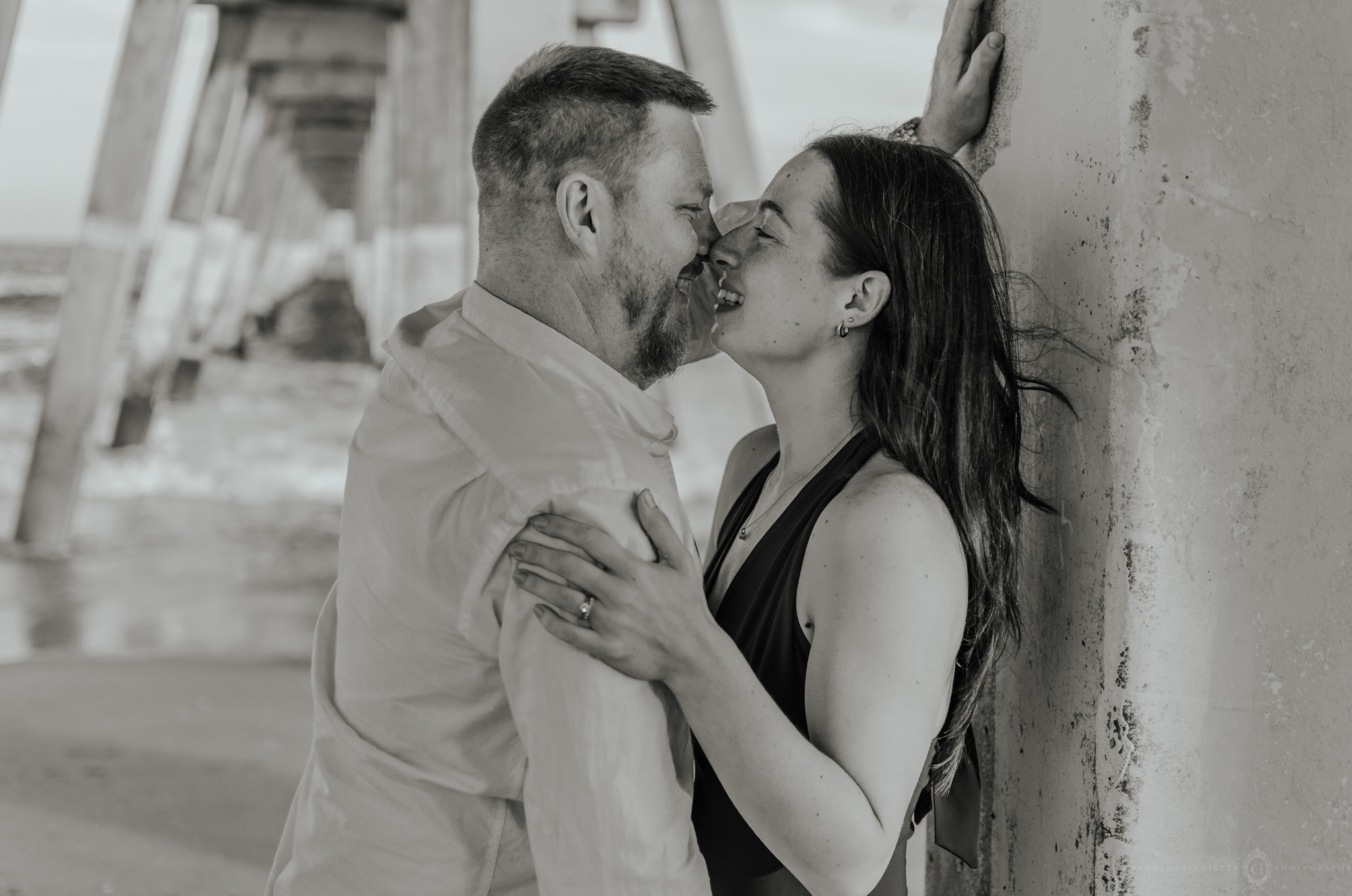 intimate couples session in the beach wilmington, nc