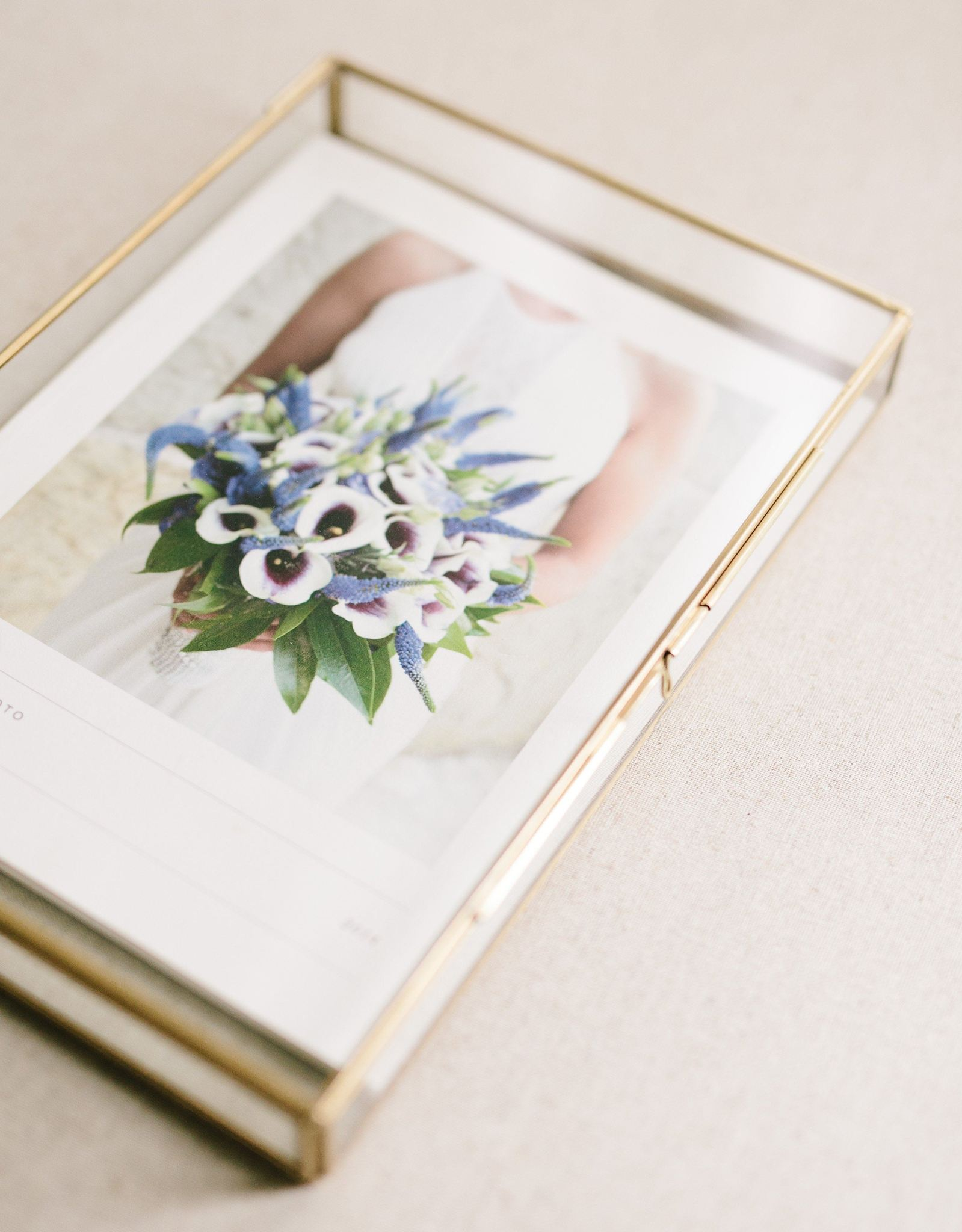 glass luxe heirloom folio box wilmington NC photographer
