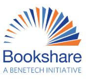 Bookshare cheat sheet