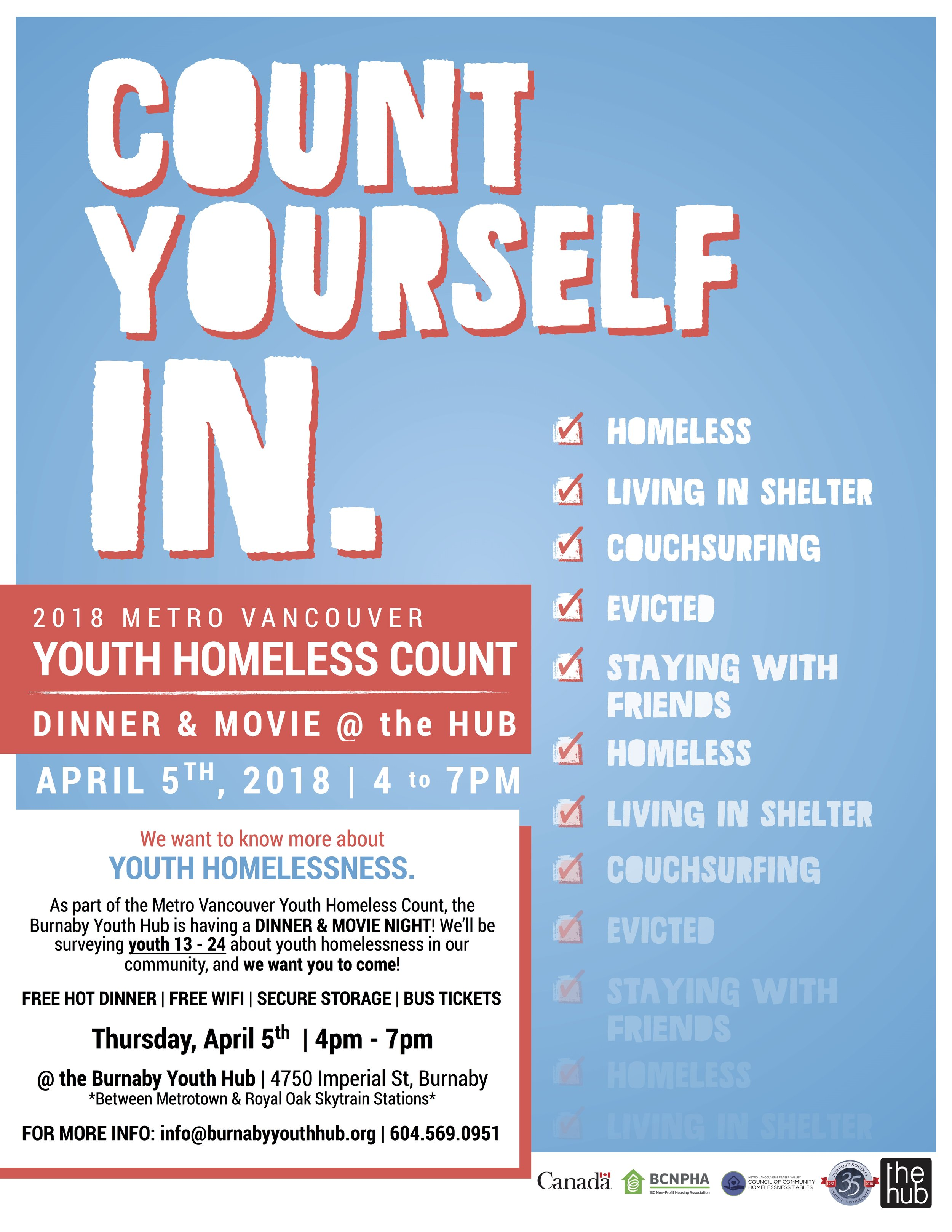 Burnaby Youth Hub - Youth Homeless Count Dinner Poster.jpg