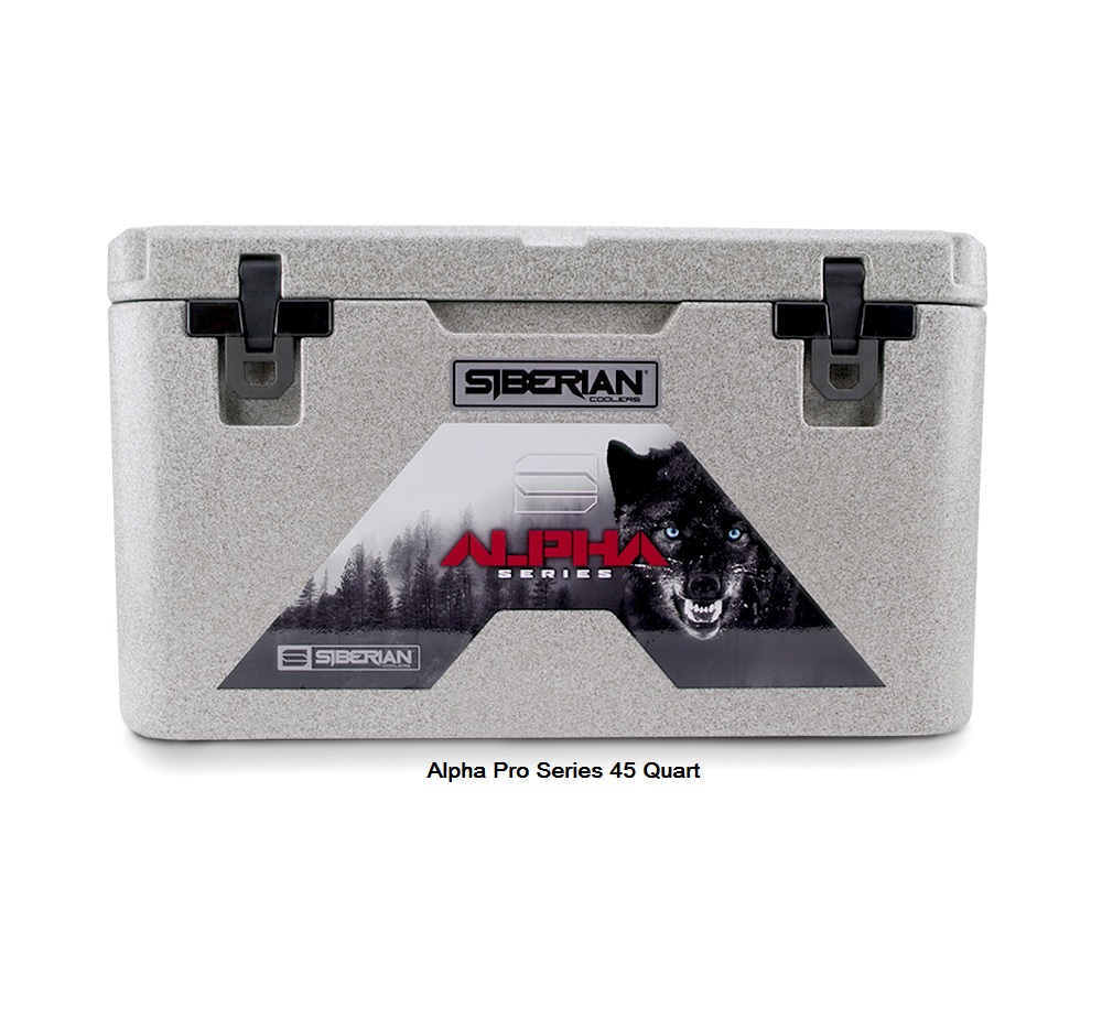 Alpha Pro Series 45 quart Cooler available in Granite, White or Sahara Tan