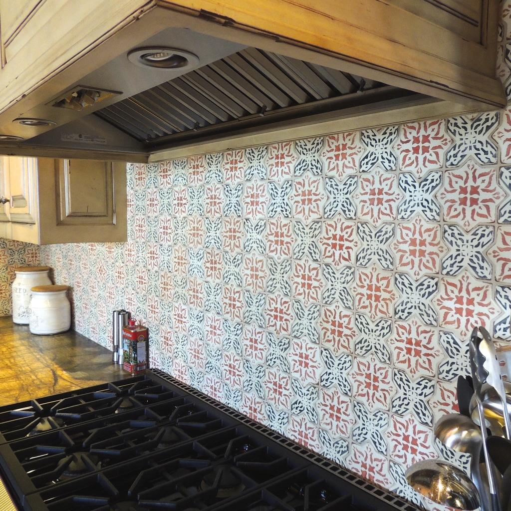 TS - Tabarka Studio - Polanco 8 Charcoal & Paprika on off white - Handpainted Tile - Backsplash.jpg