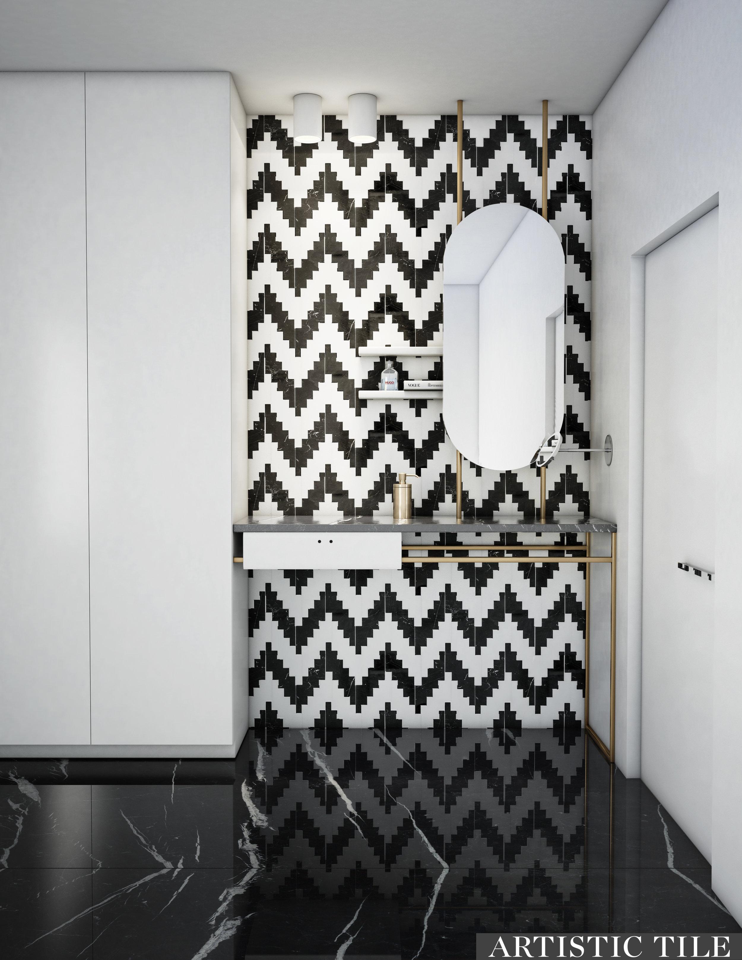 ART - Artistic -Static White & Black - Waterjet - Bathroom.jpg