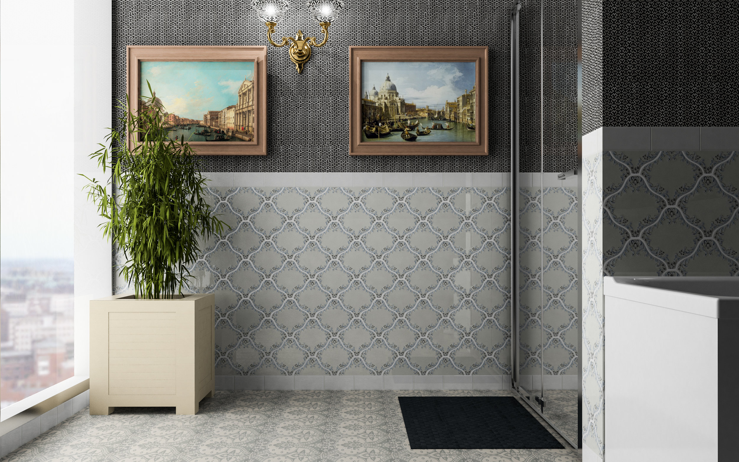 QU - Quemere - Versaille Handpainted - Handpainted tile - Bathroom.jpg