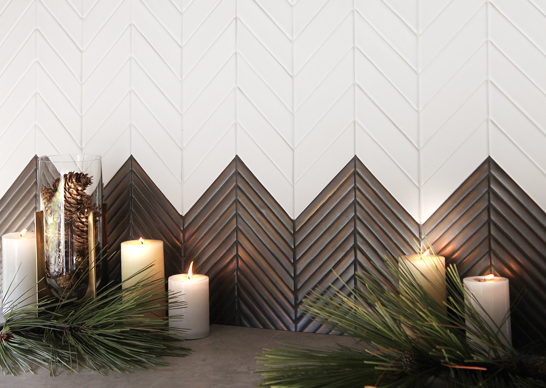 EN - Encore - Chevron Bronze & Milk - Ceramic - Backsplash.jpg