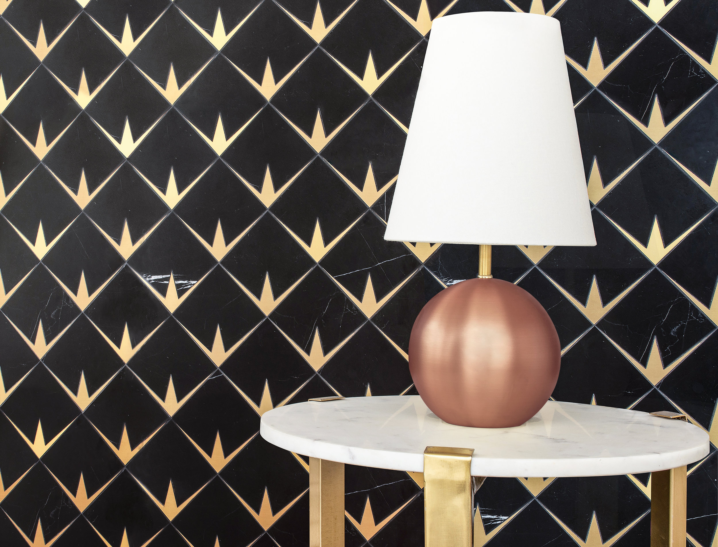NR - NewRavenna - Byron Nero Marquina & brushed brass - Mosaic - Living Spaces.jpg