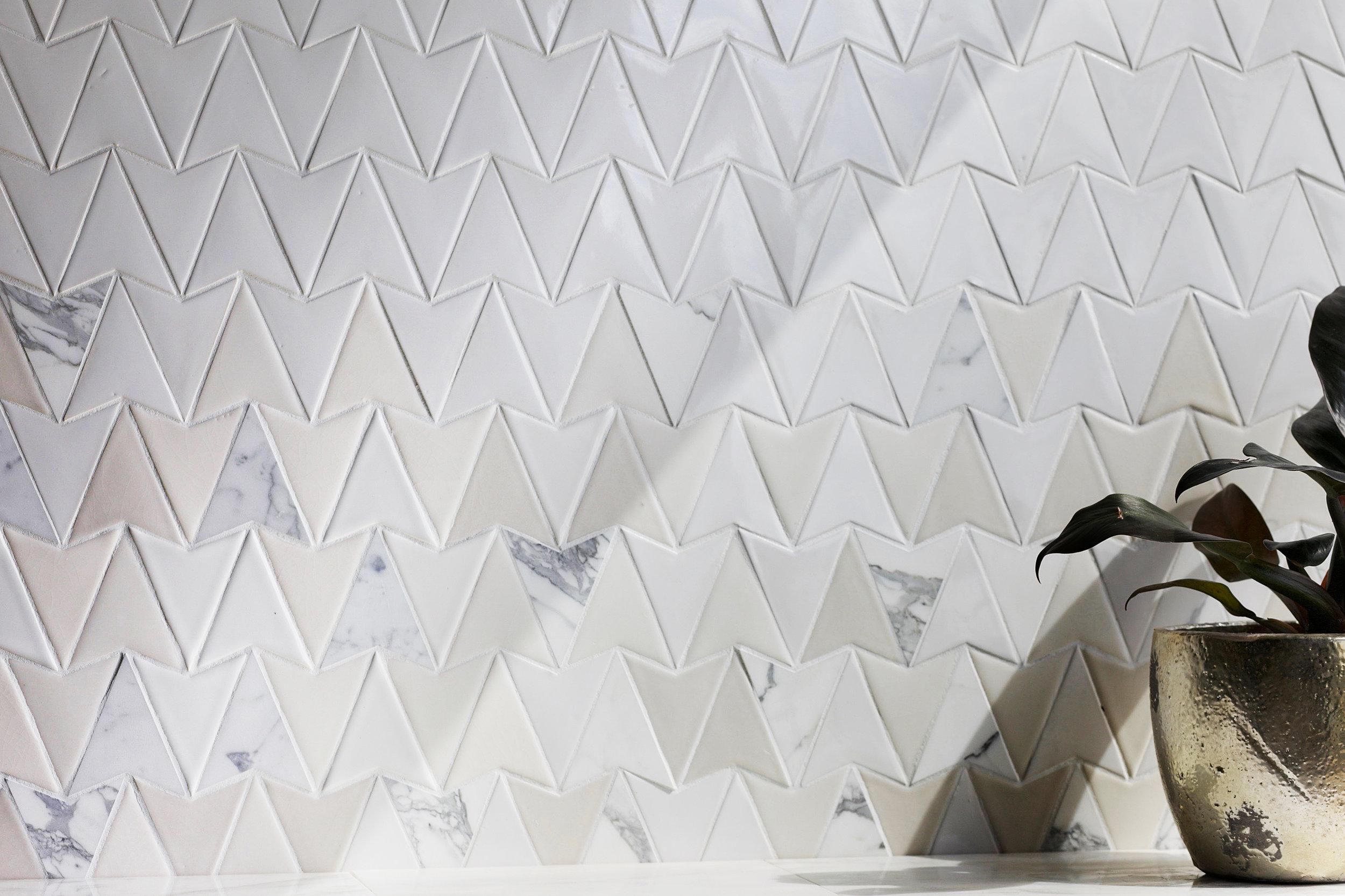 EN - Encore -Sparrow Milk gloss, Platinum sheer, Alabaster Sheer and Calacatta - Mosaic - Living Spaces.jpg