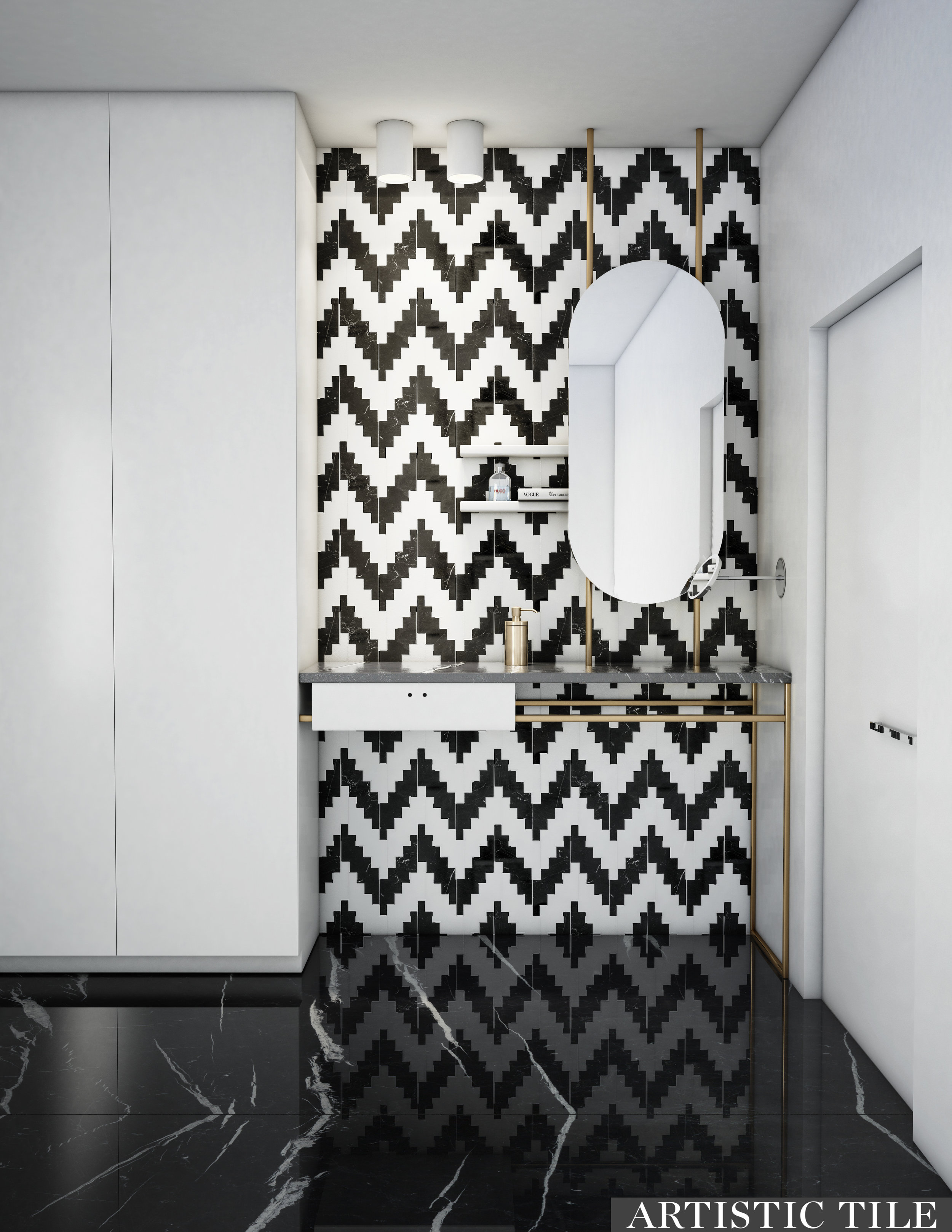 ART - Artistic -Static White & Black - Waterjet - Bathroom.jpg