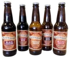 Root Beer, Birch Beer, BLACK Cherry, Orange Cream, Vanilla Cream, Grape and SARSAPARILLA.