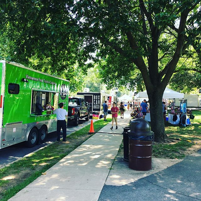 Key city Food and Farm market's lineup this week @maytasperuvian @wanderlywagonfood @boxcarburgers @thephamkitchen  and of course @sno_belles #icecream #bakerpark #friday