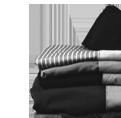 Original prison clothes for Stasi pre-trial prisoners.