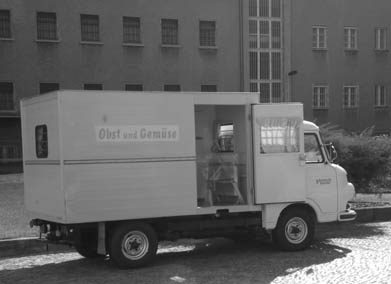 The Stasi secret service transported their political prisoners in disguised vehicles. Officially there were no political prisoners in that country. I was transported several times with these rolling boxes that included 20x20inch cells. Marked as produce delivery vehicles.