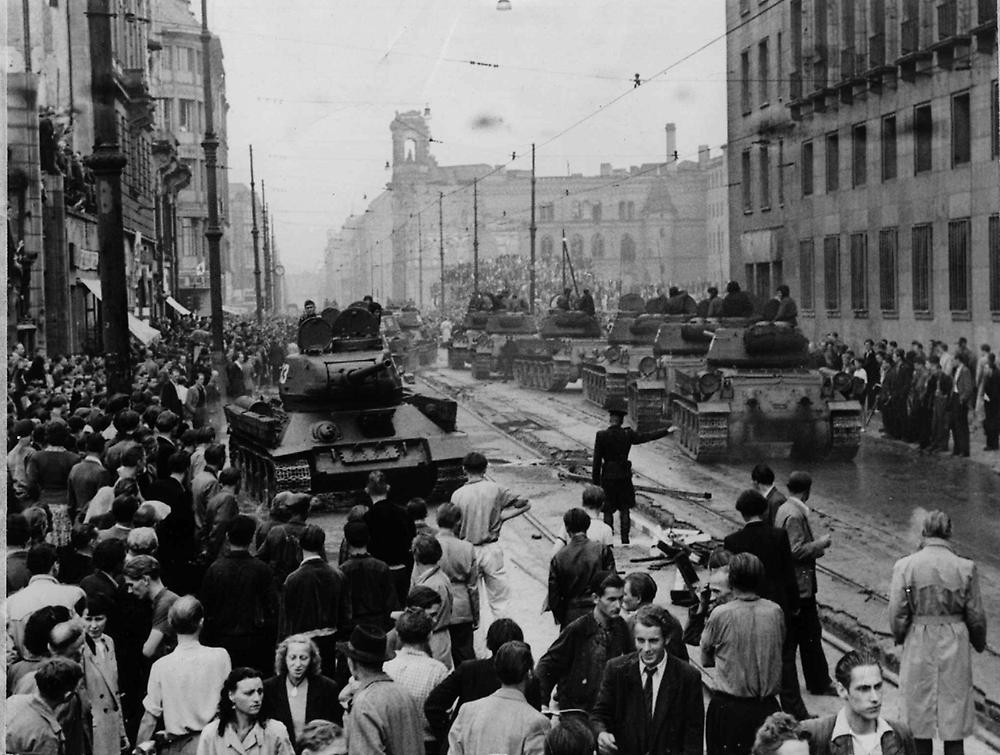 Leipziger Strasse Berlin 17 June 1953 during the uprising