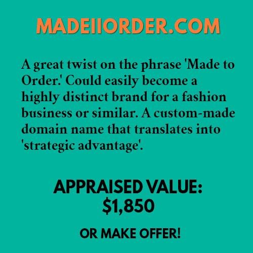 MADEIIORDER.COM
