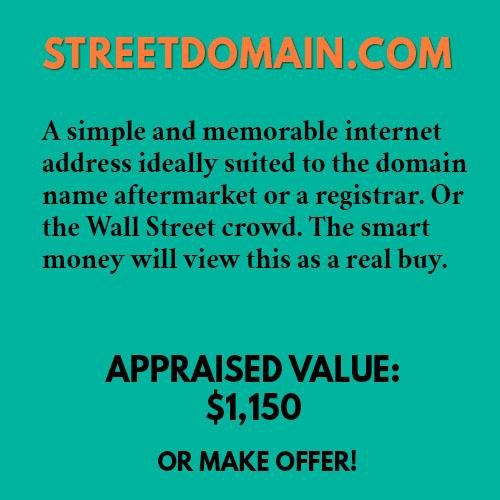 STREETDOMAIN.COM