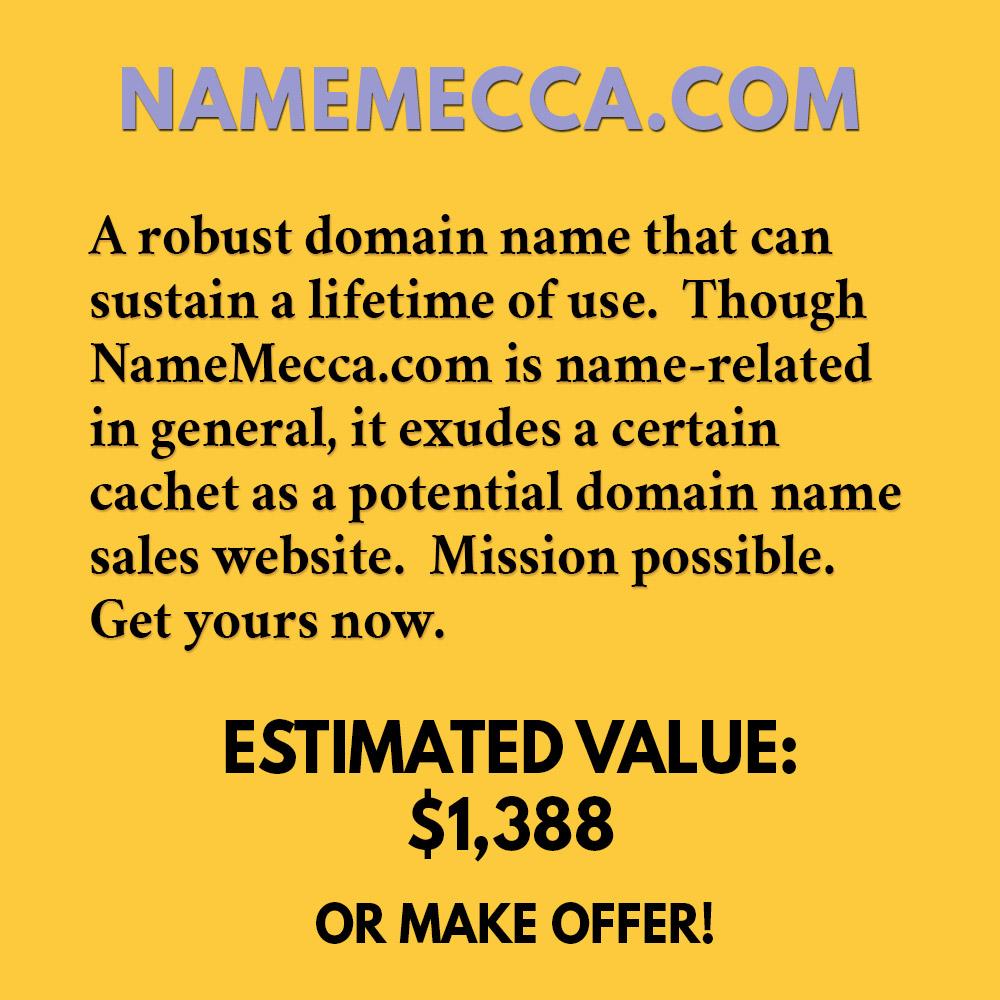 NAMEMECCA.COM