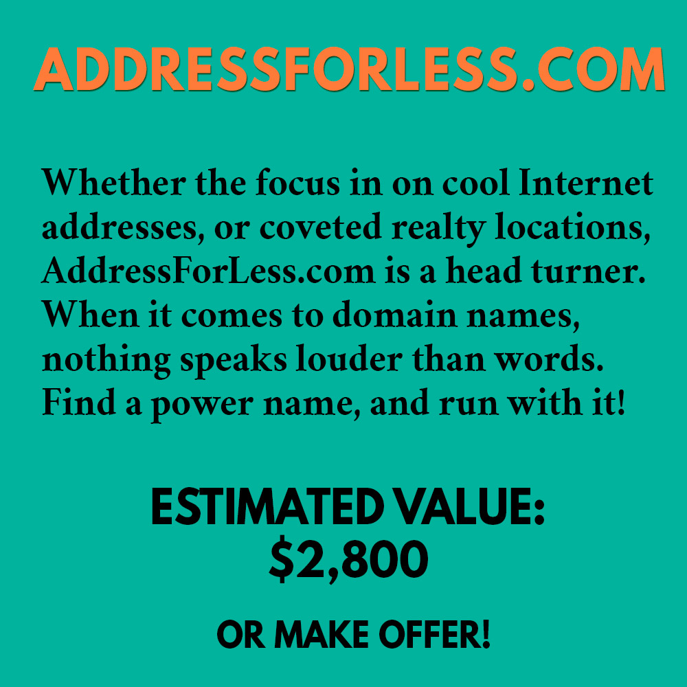 ADDRESSFORLESS.COM