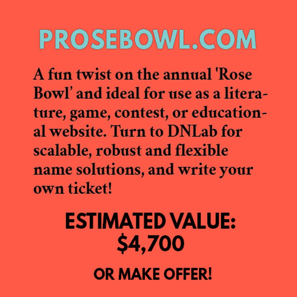 PROSEBOWL.COM