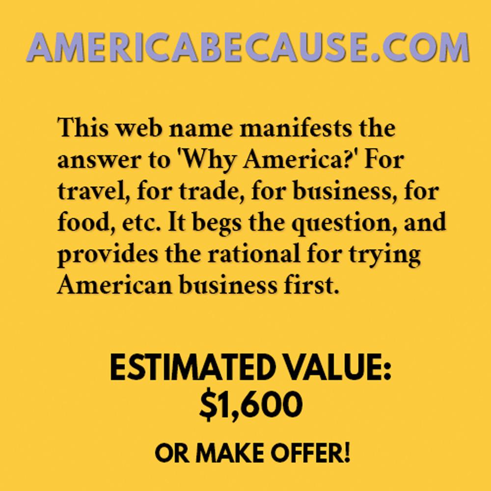 AMERICABECAUSE.COM