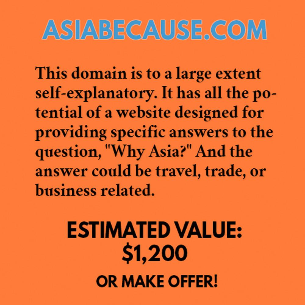 ASIABECAUSE.COM