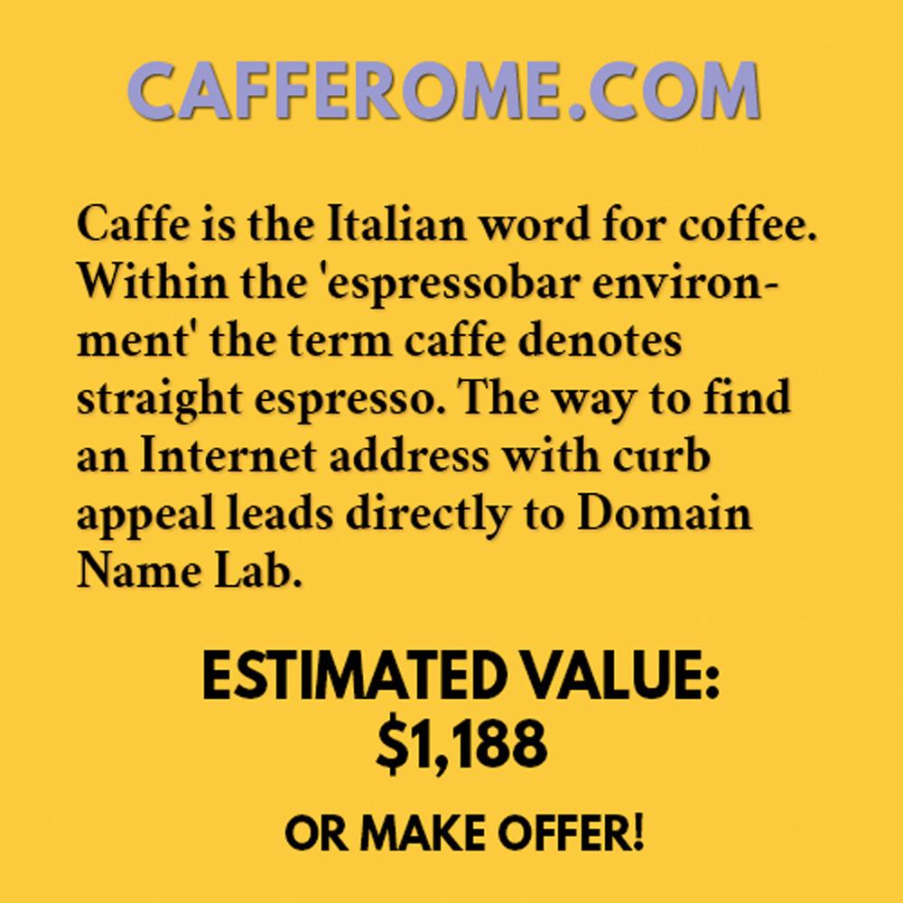 CAFFEROME.COM