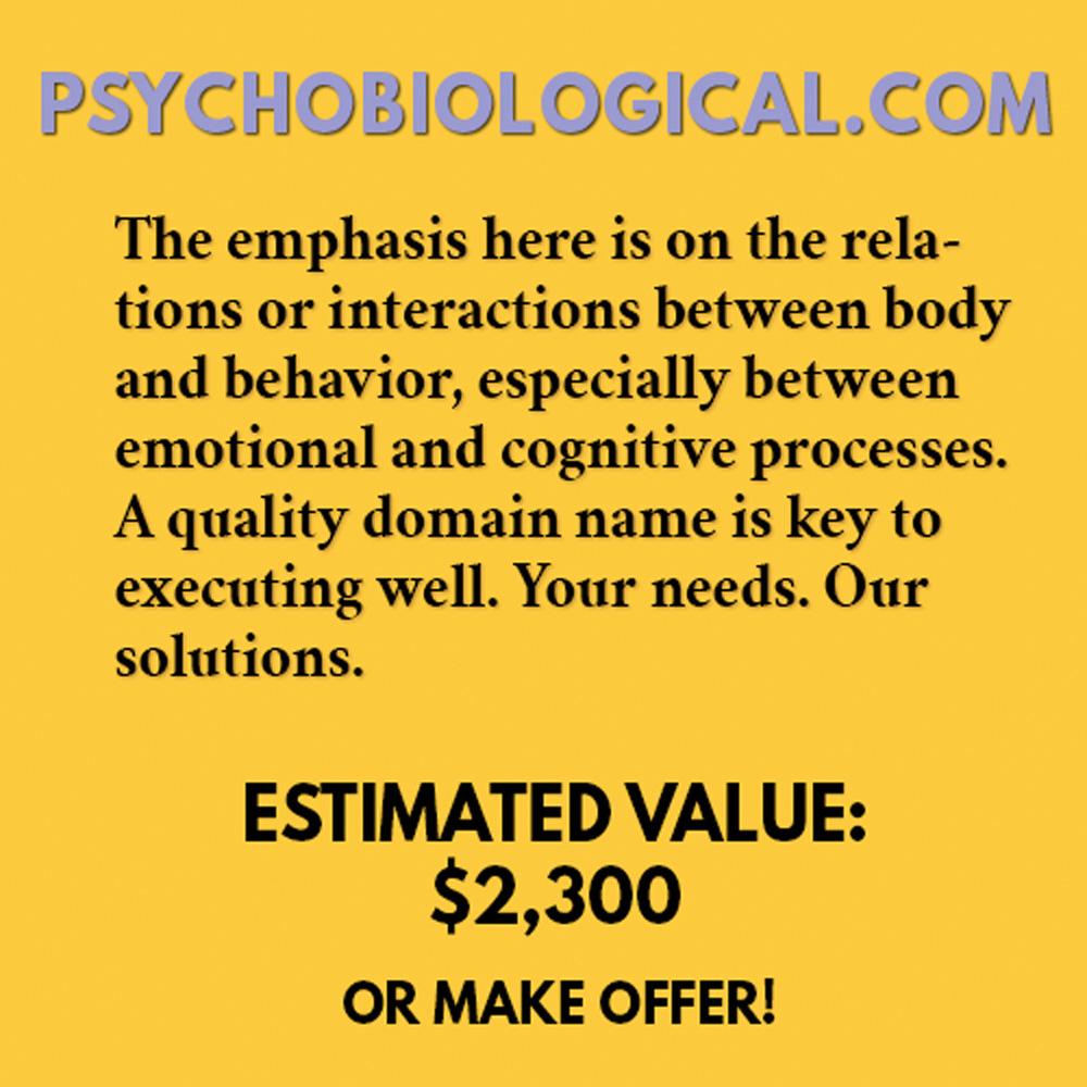 PSYCHOBIOLOGICAL.COM