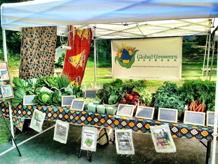 Global Growers participating at an Atlanta farmers market