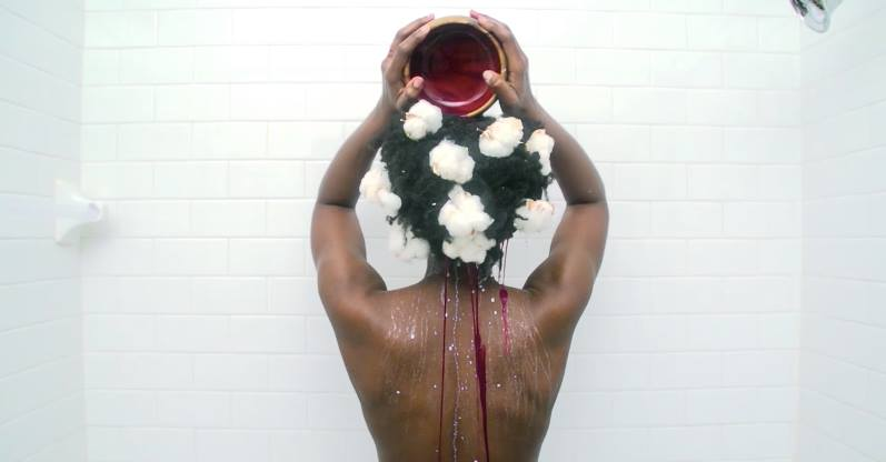 "Video Still from Delphine Fawundu's  ""the cleanse"""