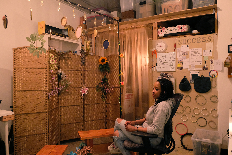 Phoebe King in her studio.