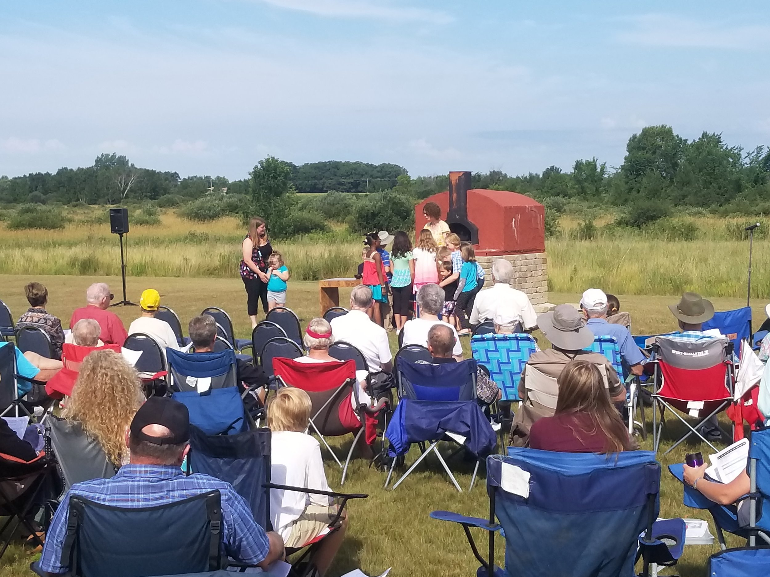 Outdoor worship in July!