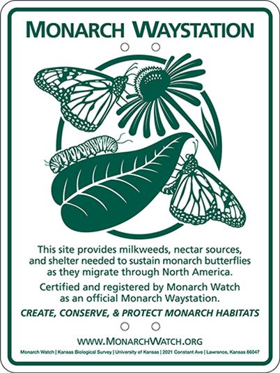 FUMC prairie is a Designated Monarch Waystation