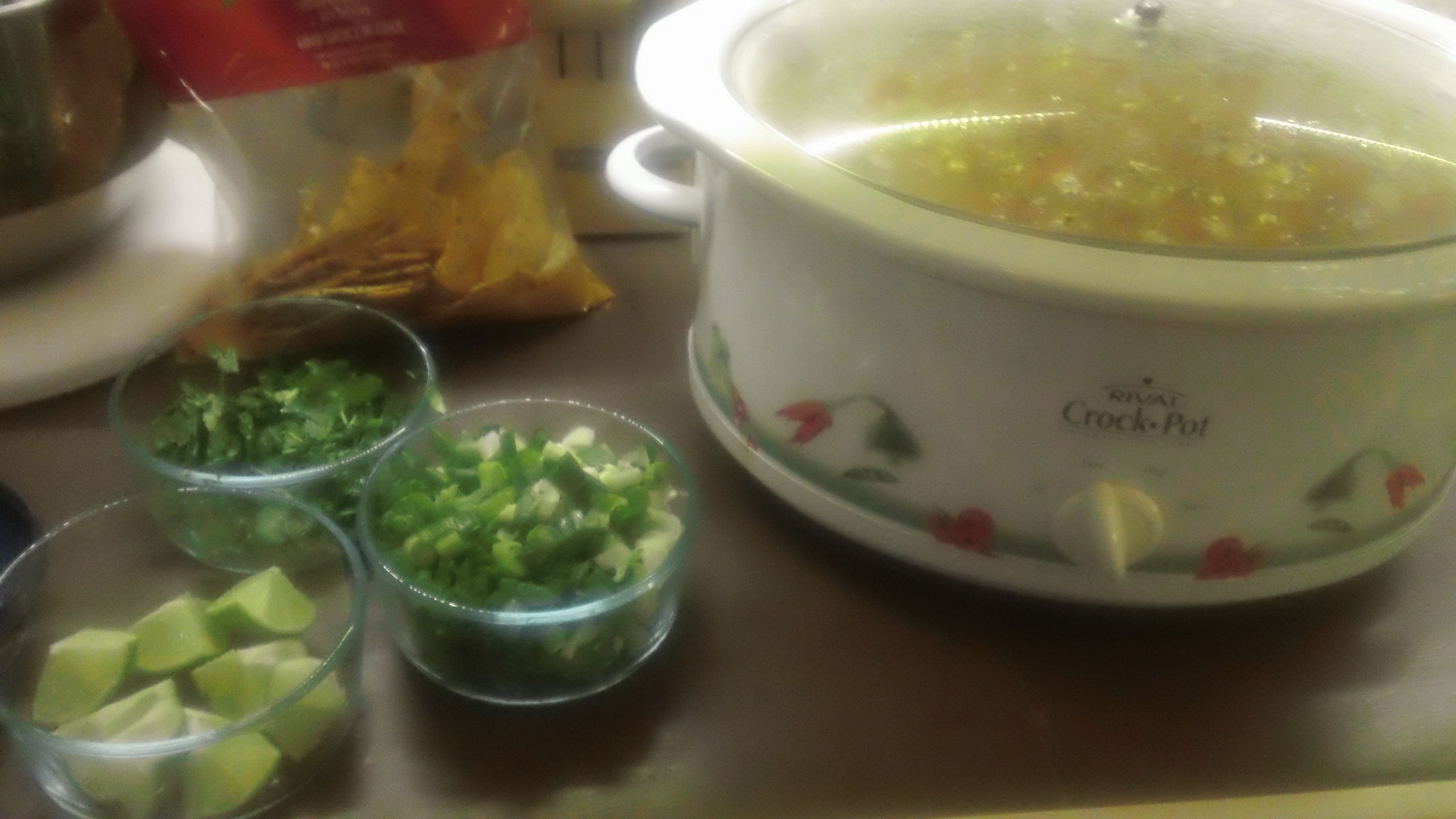 Tortilla Soup and all the fixings.