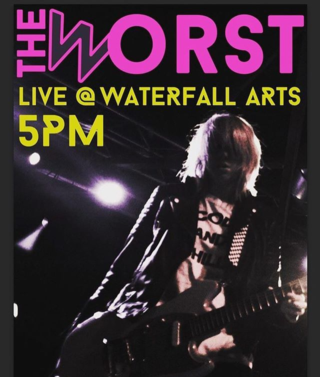Psyched for #Saturday @waterfallarts #belfast @allroadsmusicfest #5pm @theworstband playing songs off forthcoming debut album #janedoeembryo #indiemusic #newmusicalert #maine