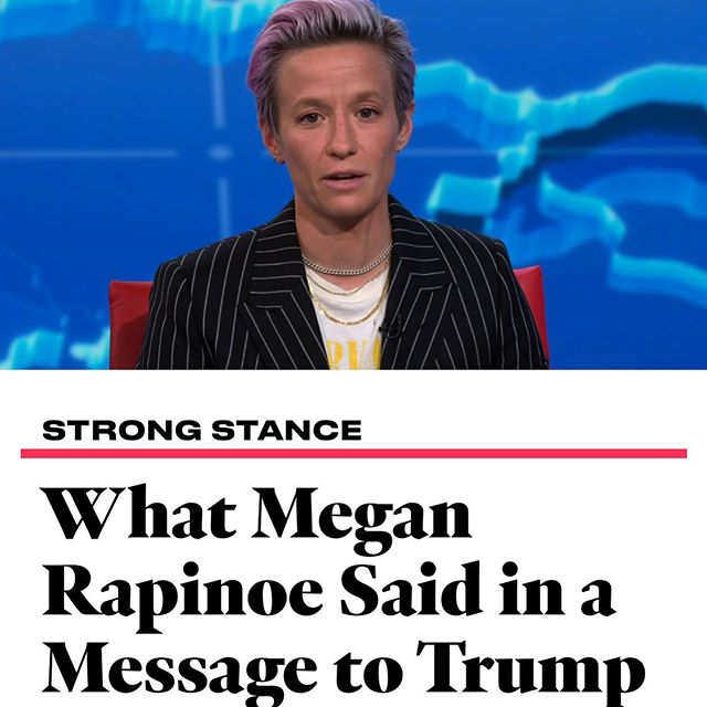 Yes!!! Thank you for speaking up #meganrapinoe 👏🙌💪