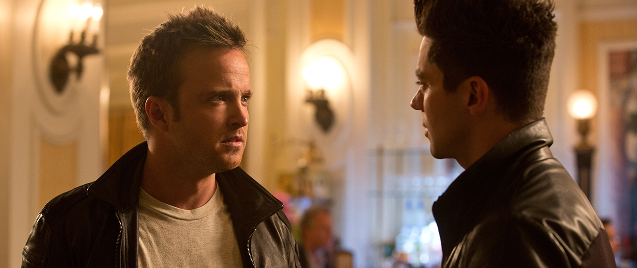 Aaron Paul and Dominic Cooper in Need for Speed