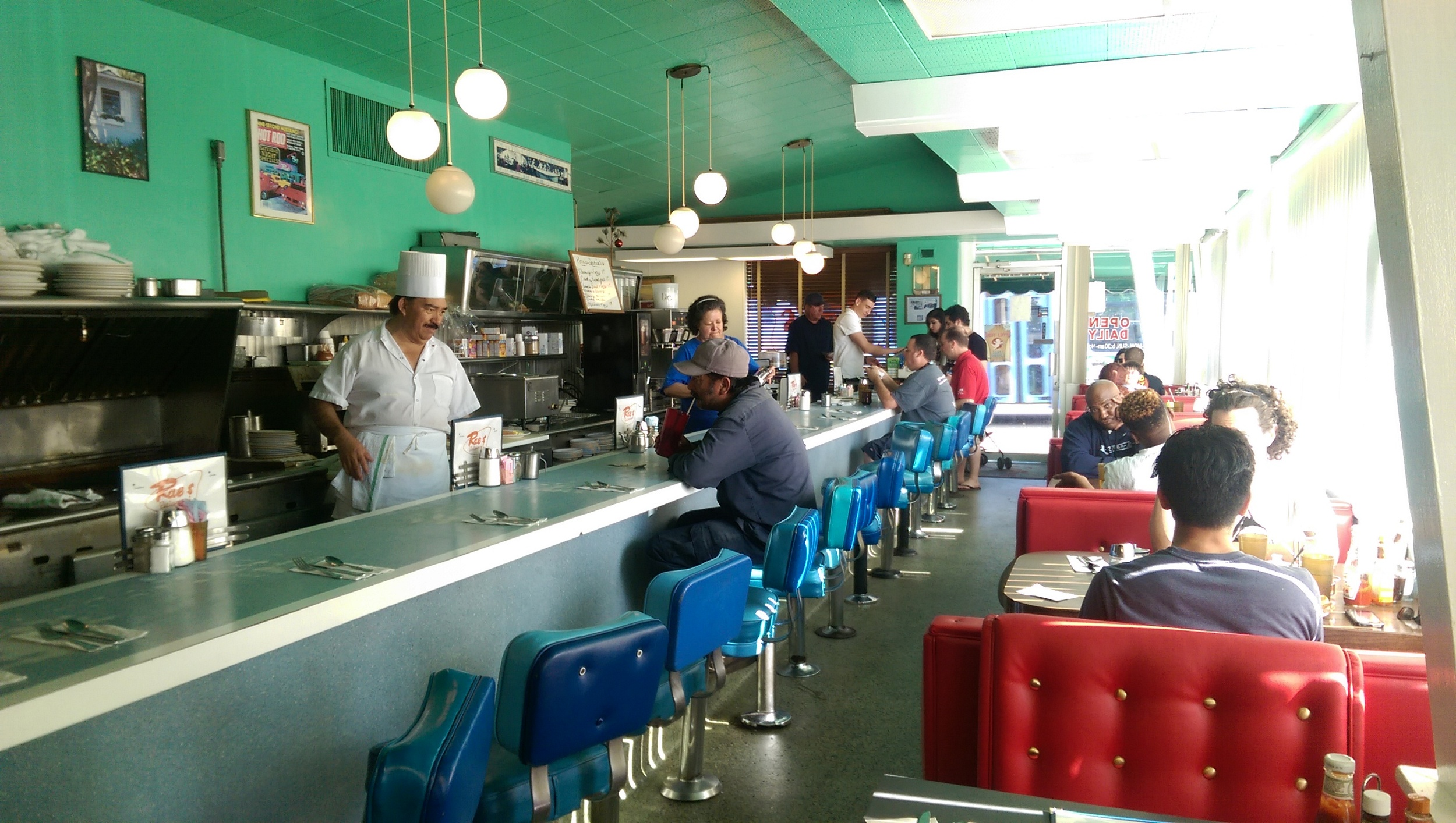 Rae's Restaurant on Pico Boulevard provides the classic diner experience