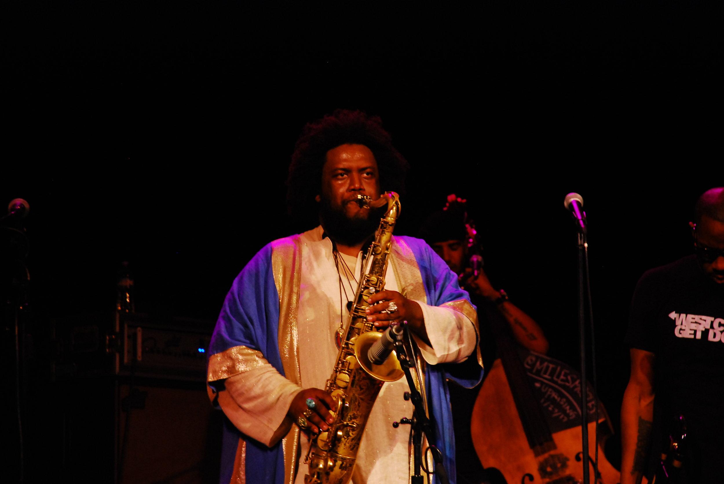 Kamasi Washington (Tenor Saxophone) performing with The Next Step.