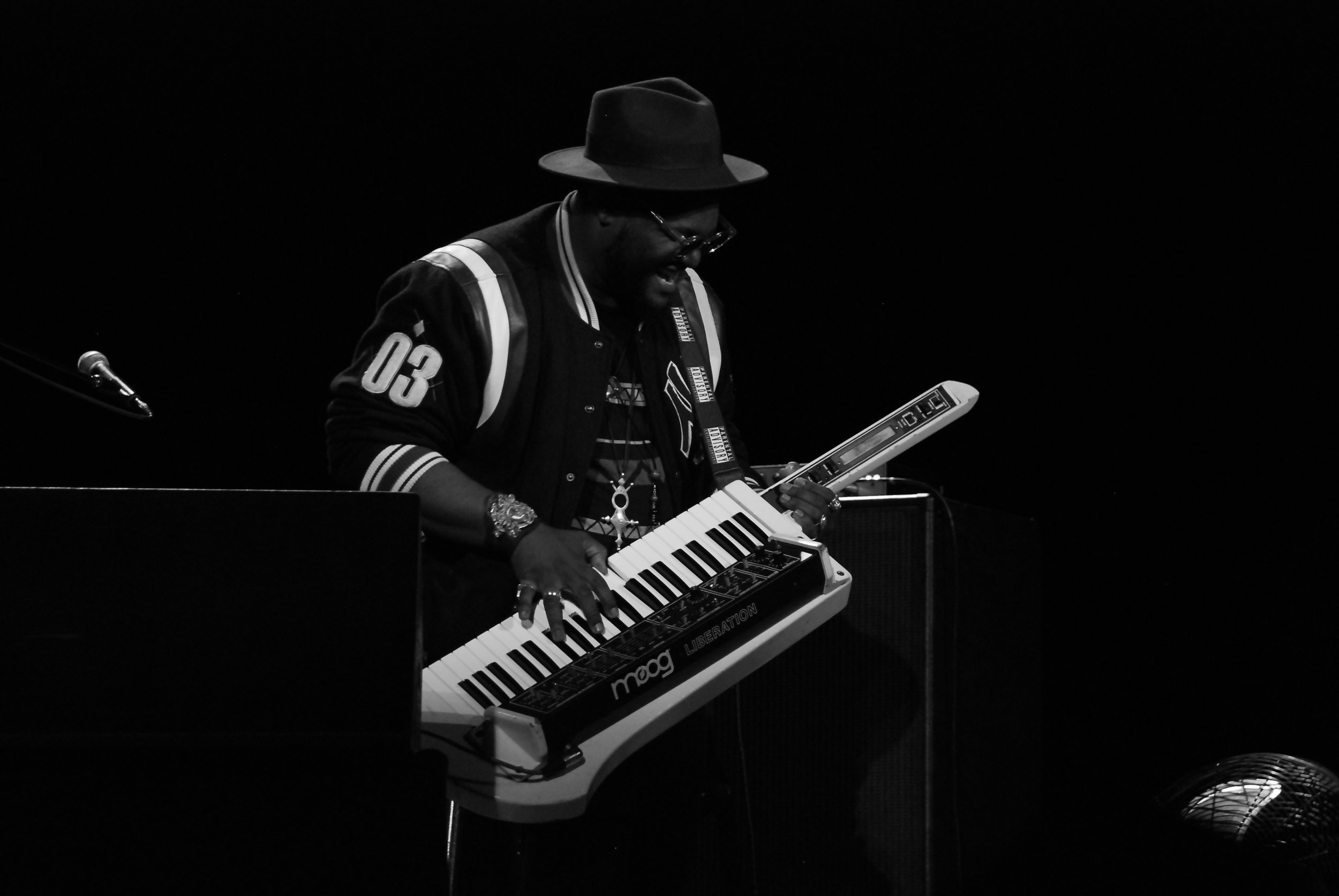 Brandon Coleman (Keyboards) playing a solo with his Keytar