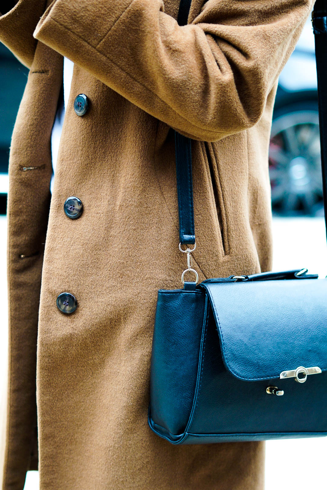 Long tan trench from Lord and Taylor.  Instagram  @amandaujkashi   Photo- Grace Coudal