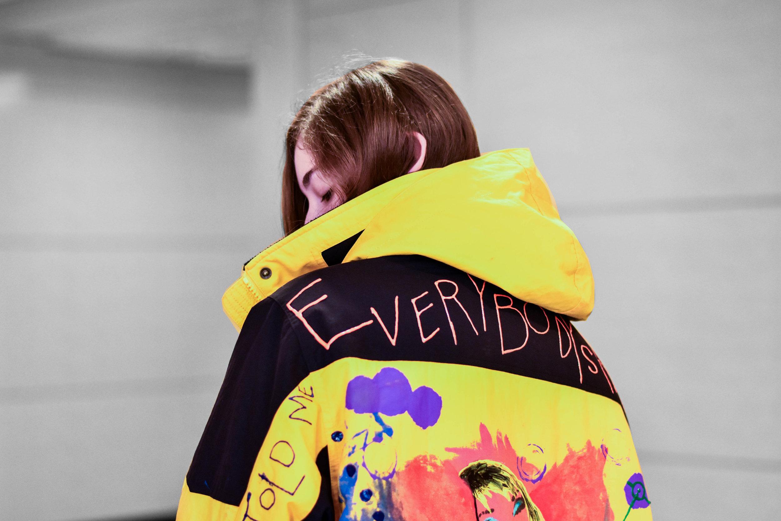 Rachel takes custom orders for her hand painted jackets. (DM for info)  Instagram  @bagel.jpg   Photo- Alex Leav