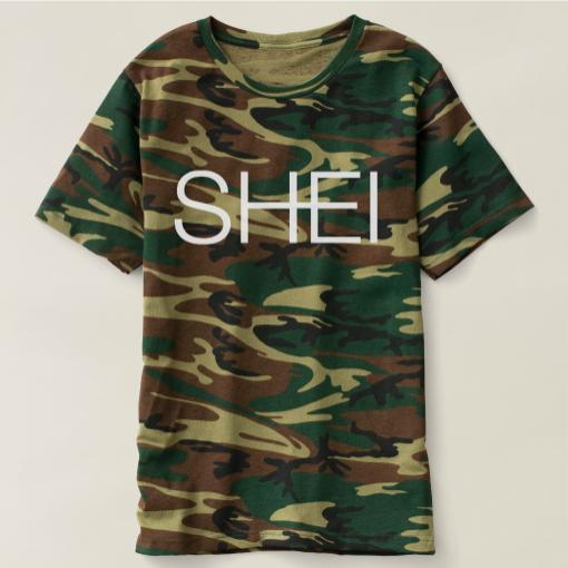 SHEI Logo T-shirt in Camo