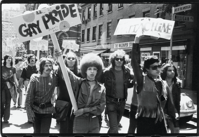 First Stonewall Anniversary March, 1970, NY, New York. Image Copyright: Fred W. McDarrah.