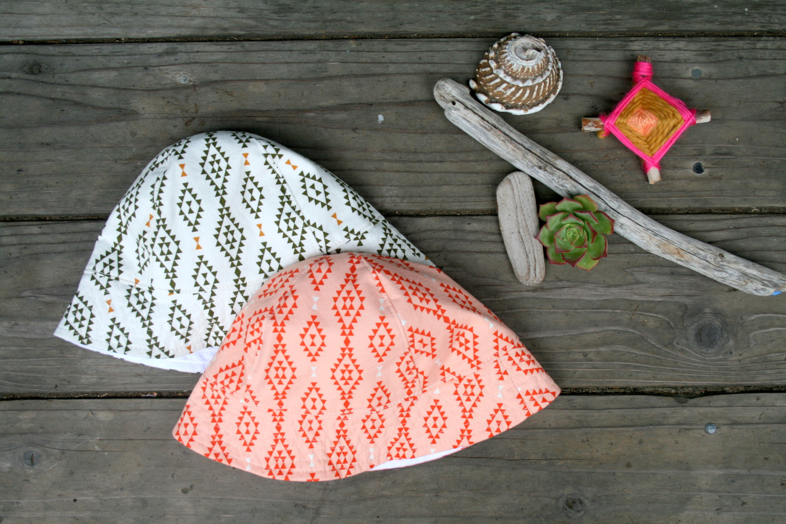 Tribal Baby Sun Hats by Blue Corduroy
