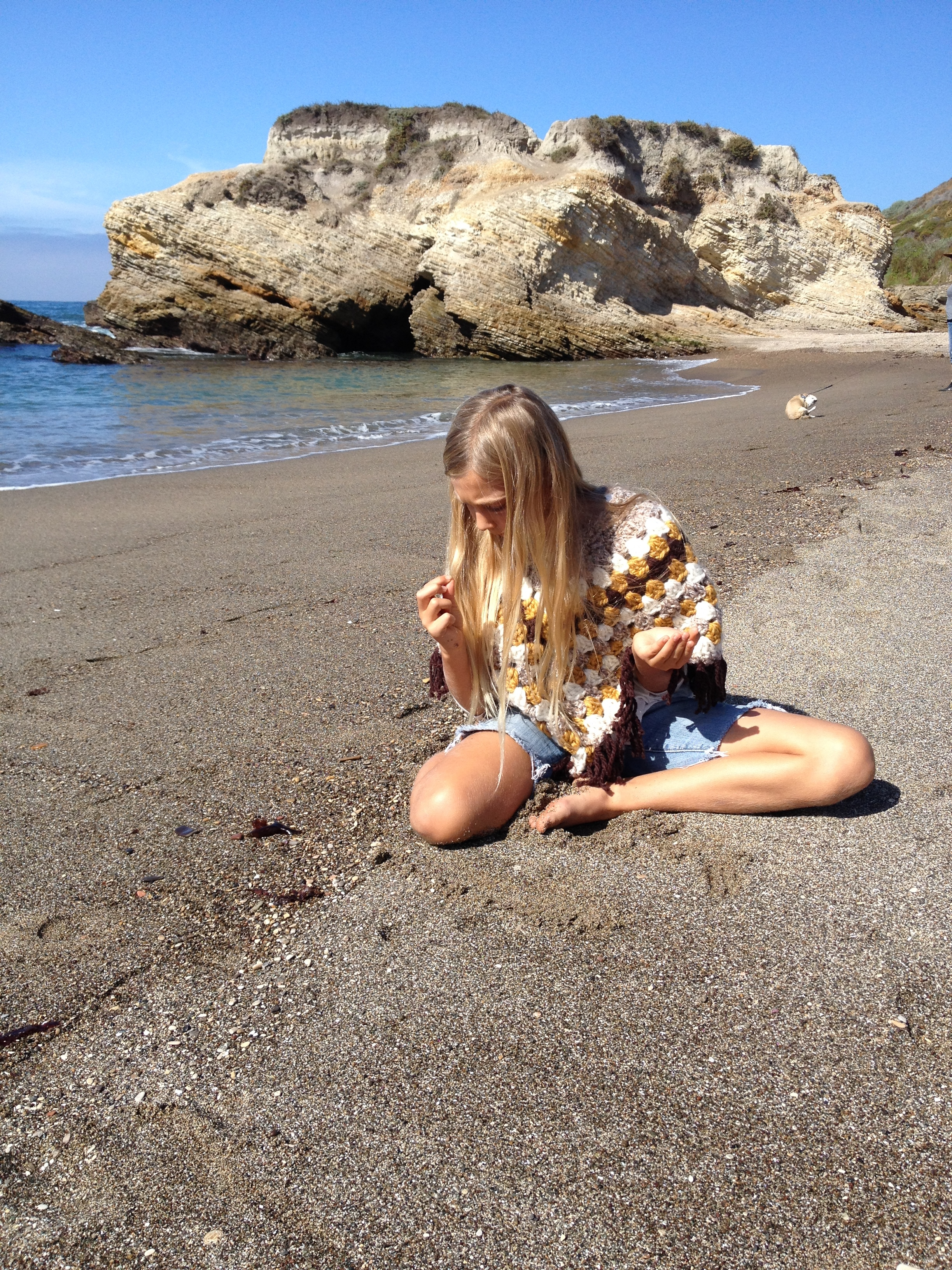 beach combing for sea glass