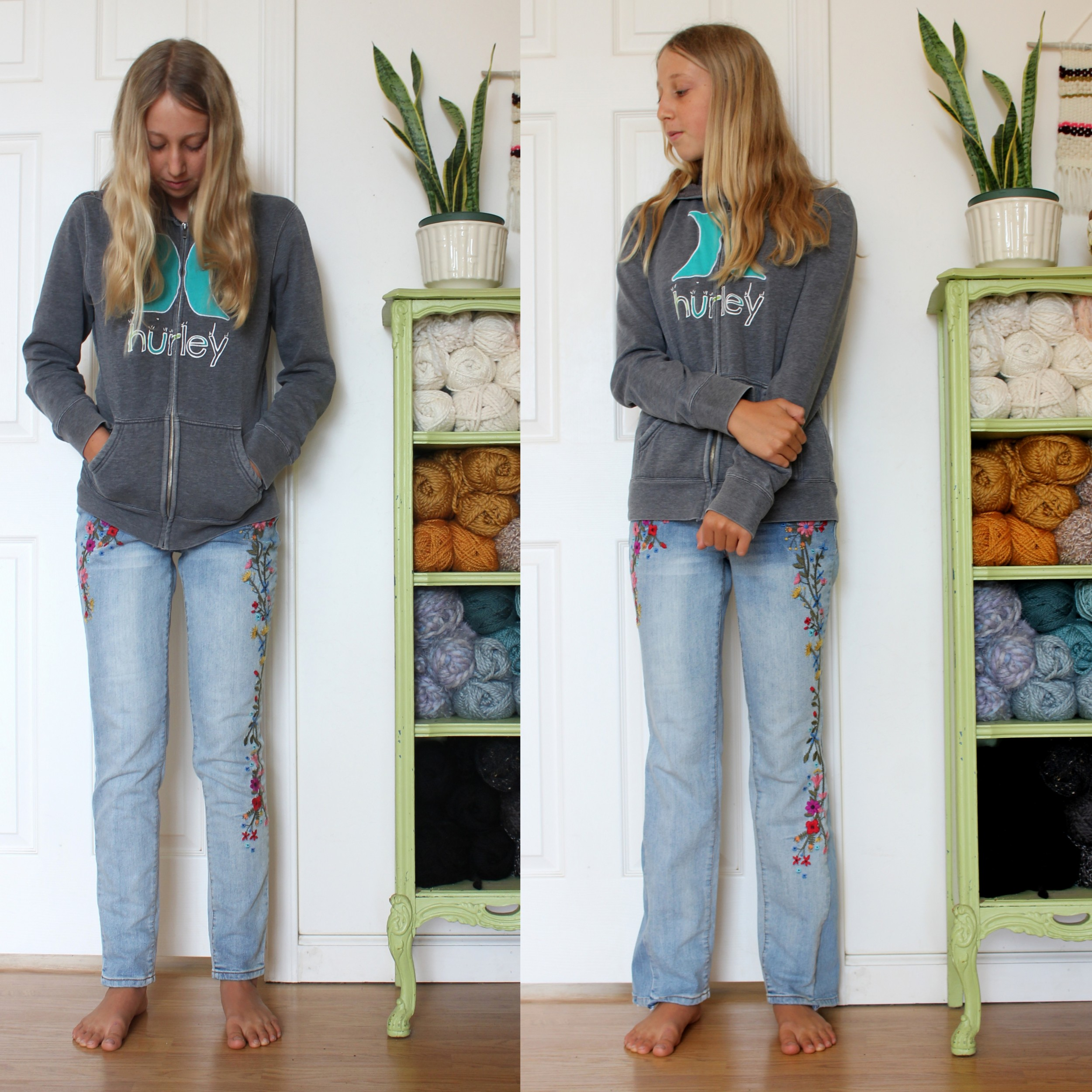 Make Your Skinny Jeans into Boot Cut Jeans