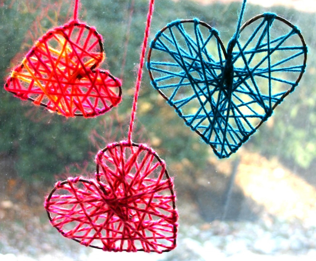 string heart ornament craft