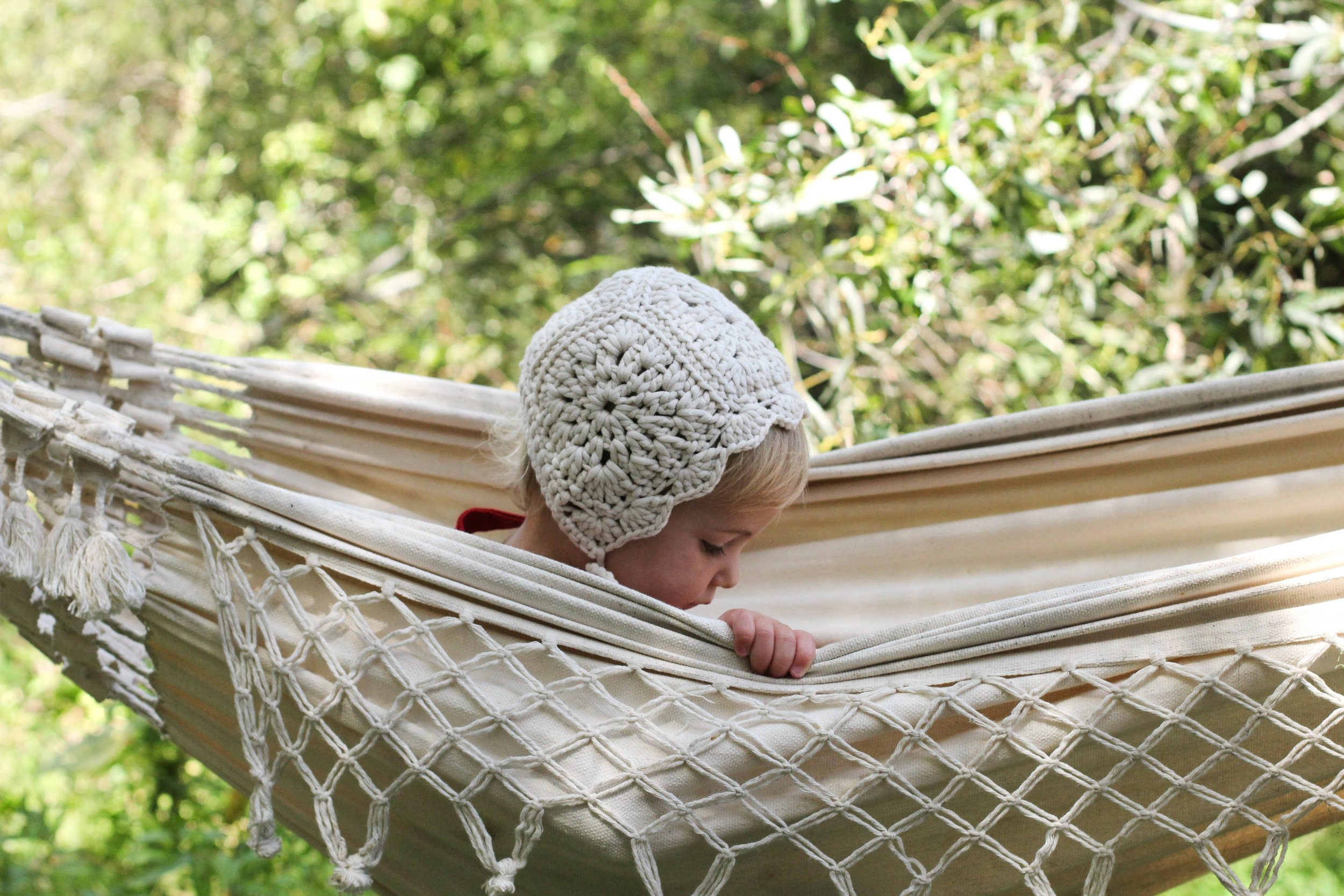 Handmade Crochet Bonnet from bluecorduroy.com