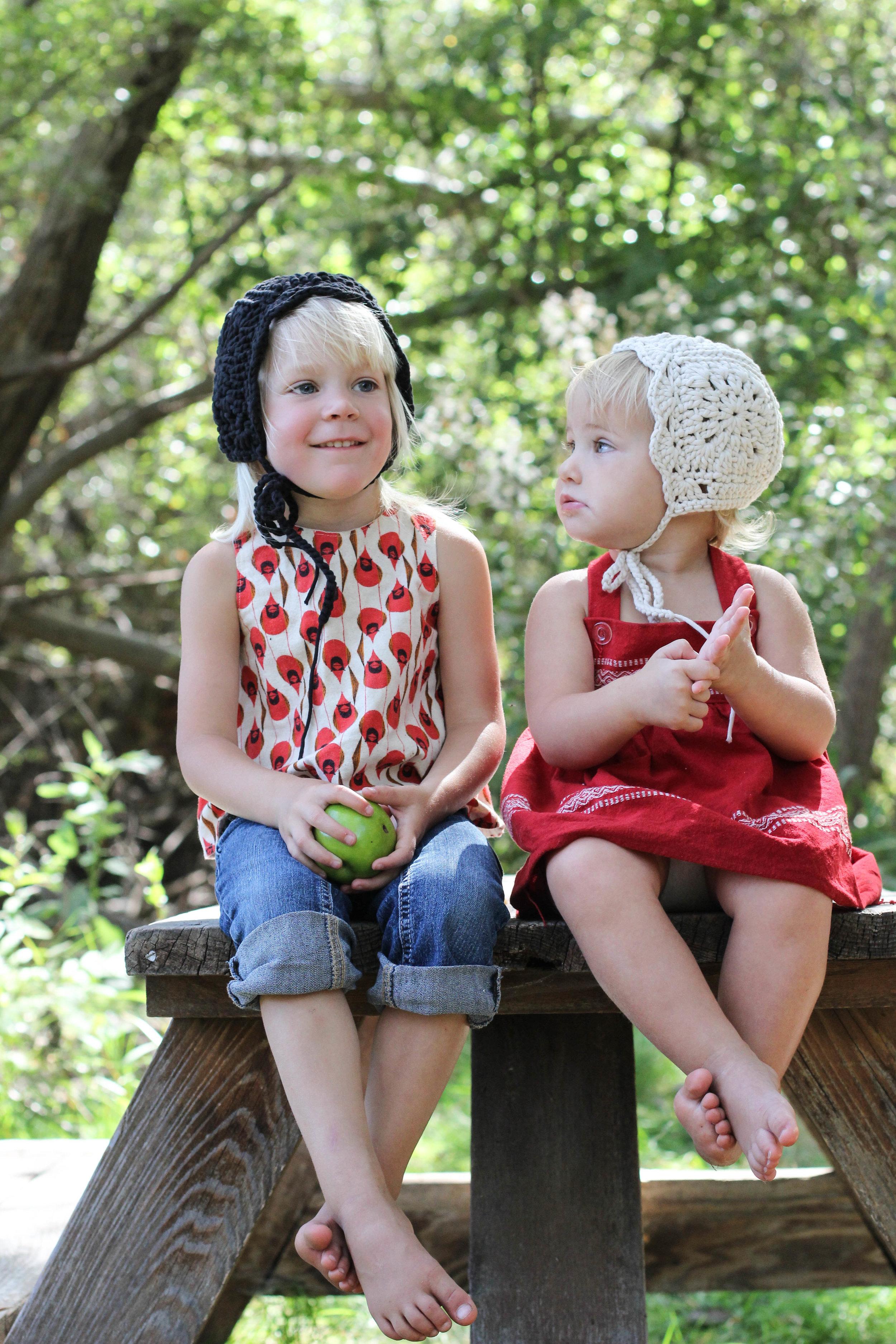 Handmade Crochet Baby Bonnets by Blue Corduroy