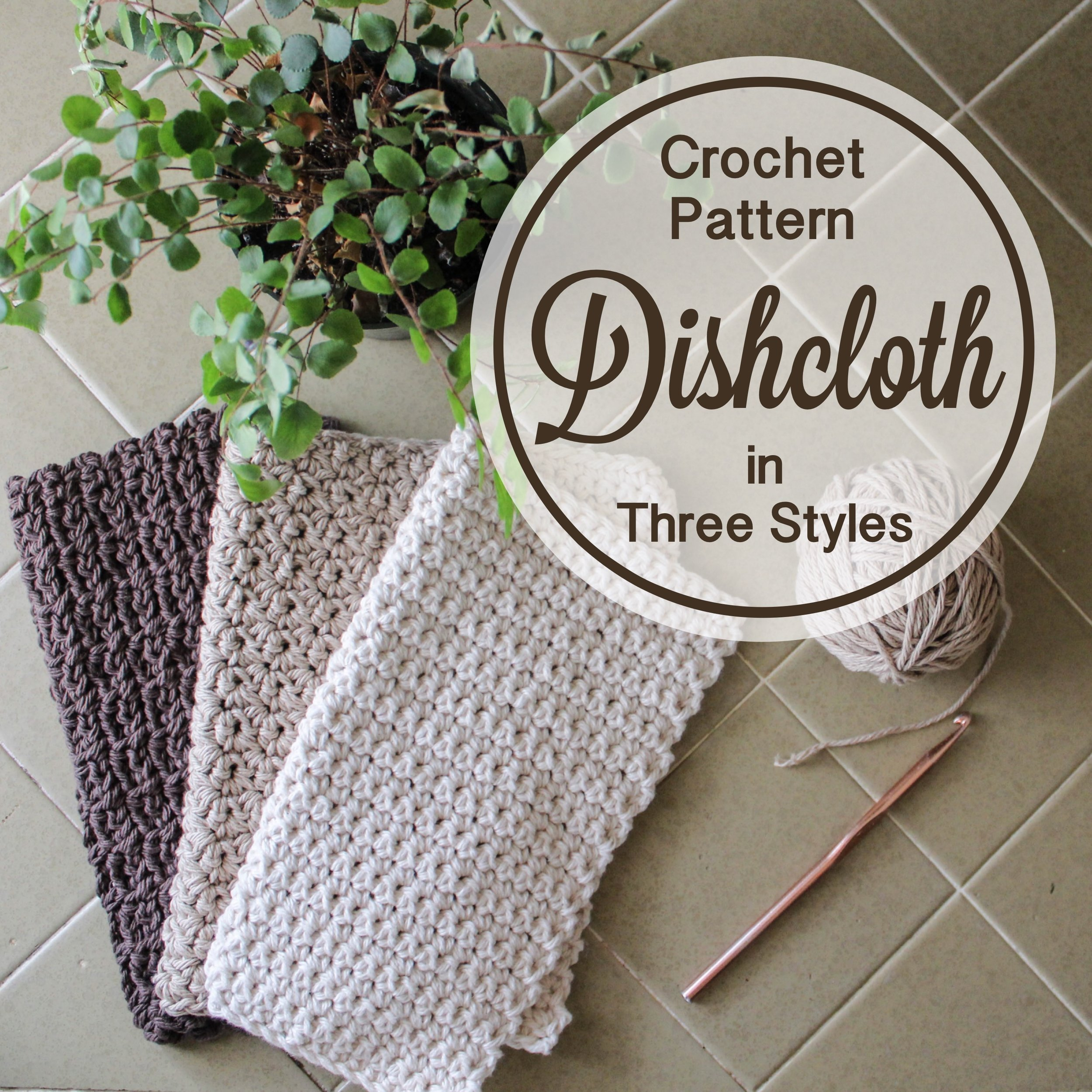 Free Crochet Dishcloth Pattern from Blue Corduroy