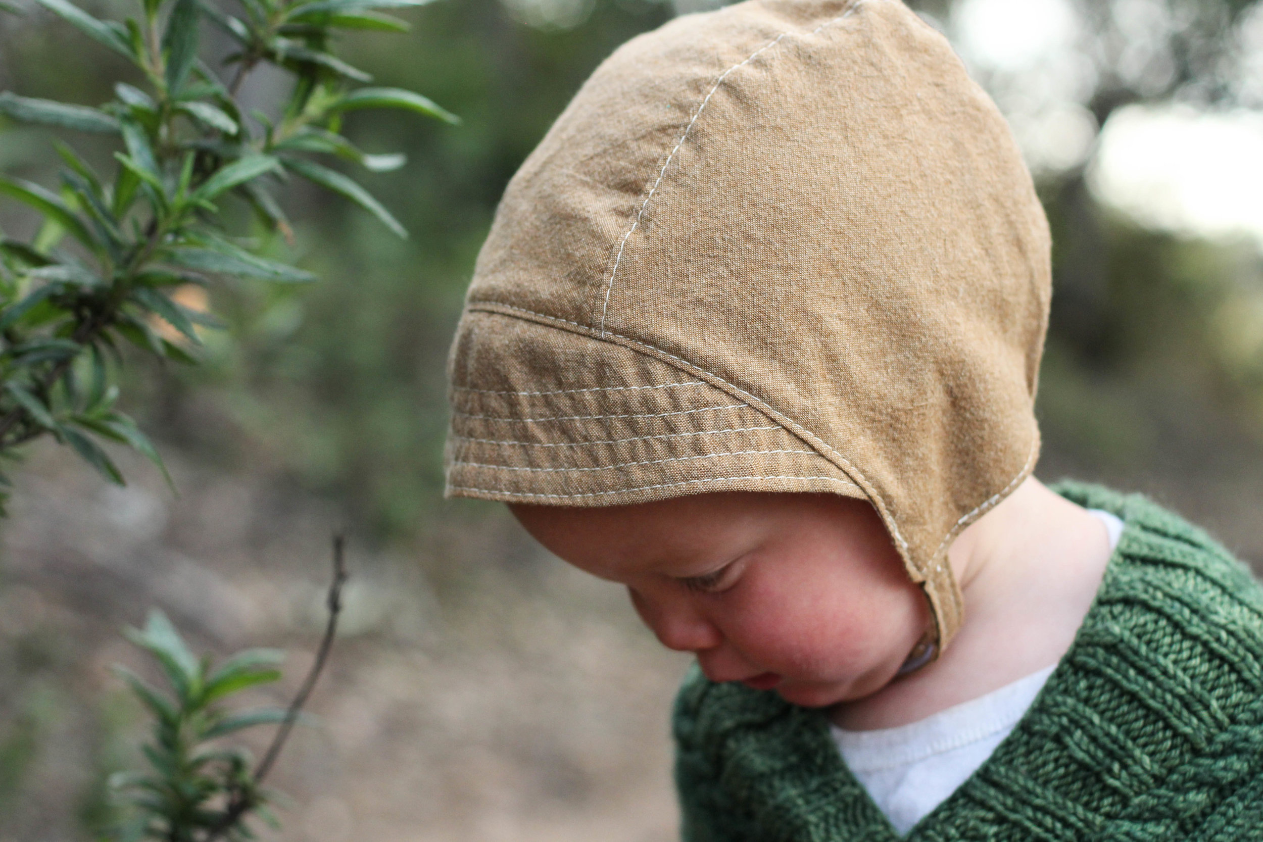 Handmade Baby Sun Bonnets for Boys via bluecorduroy.com